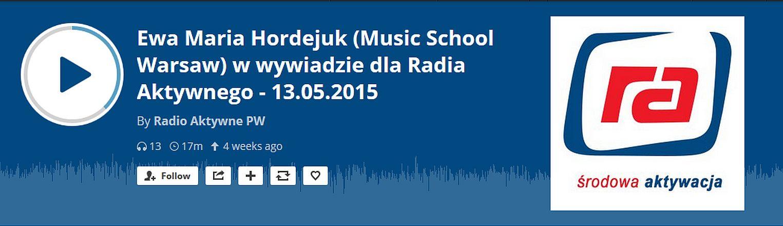 """Wywiad dla """"Radio Aktywne""""- jest już zapis audycji!"""