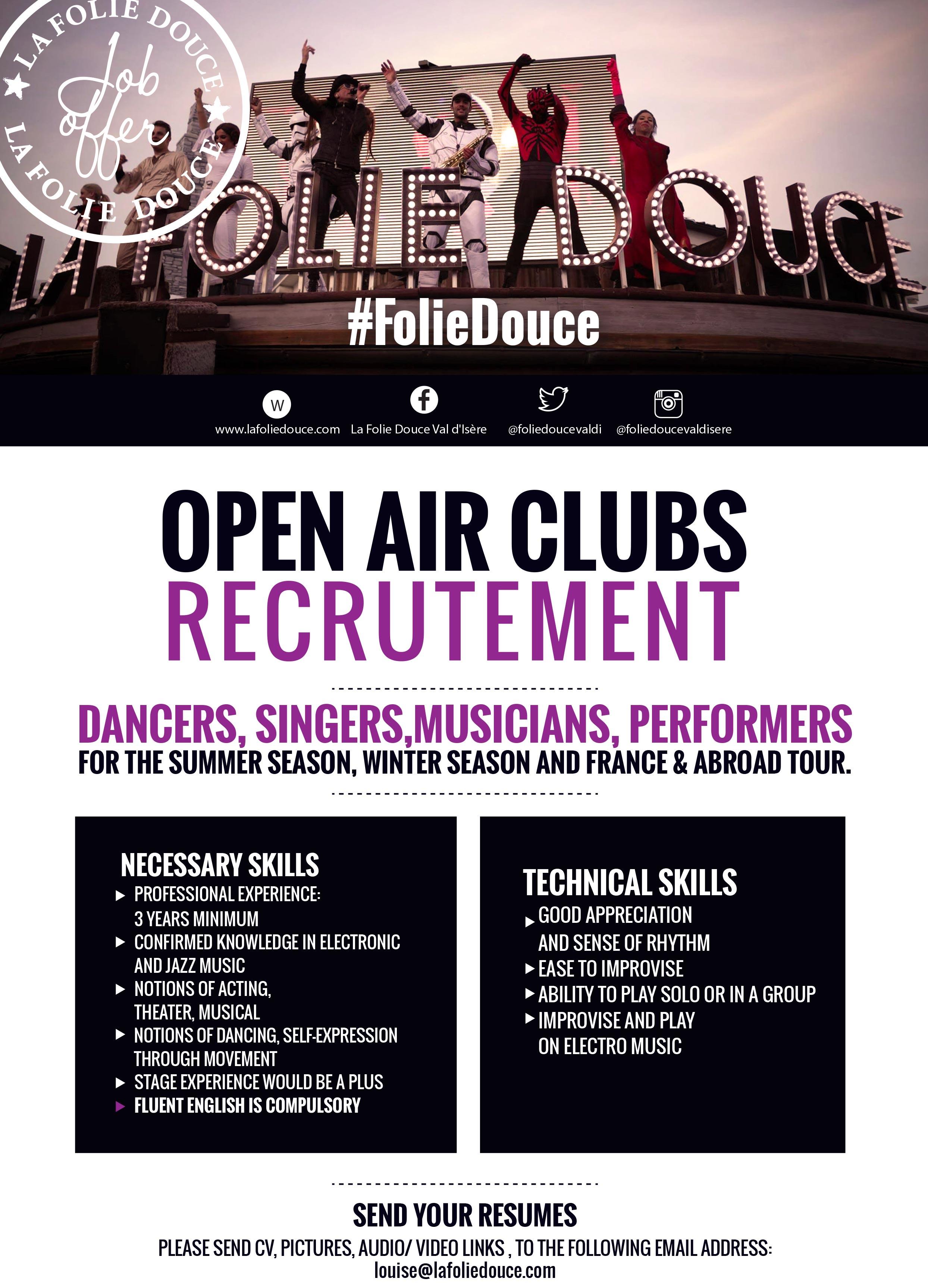 Job offer for musicians!